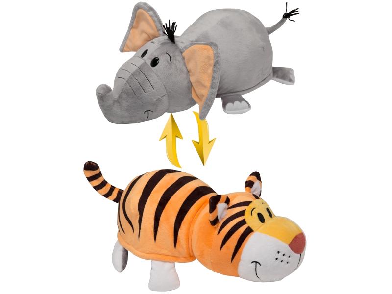Игрушка 1Toy Вывернушка 2в1 Тигр - Слон 40cm Т10931 игрушка 1toy вывернушка 2в1 тигр слон т10876