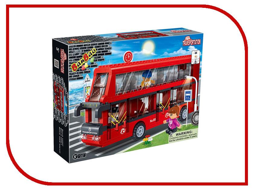 Конструктор BanBao Двухэтажный автобус 412 дет. 8769 / 31231 спот ★ импортированные голубой автобус автобус автобус автомобиль тайо игрушка тянуть обратно автомобиль корея продукты