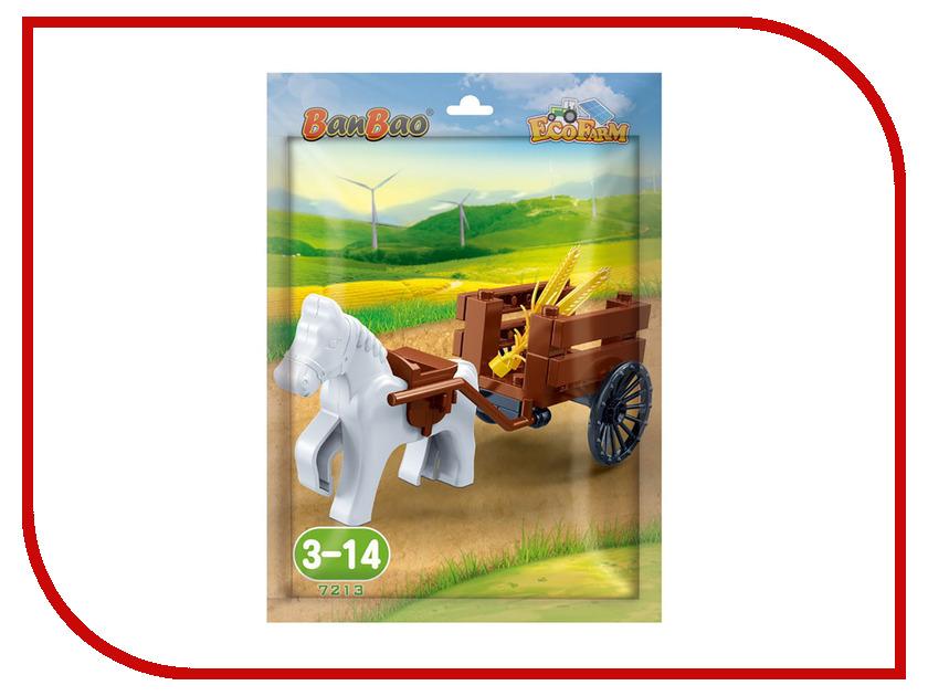 Конструктор BanBao EcoFarm Лошадка с повозкой 27 дет. 7213 / 297032