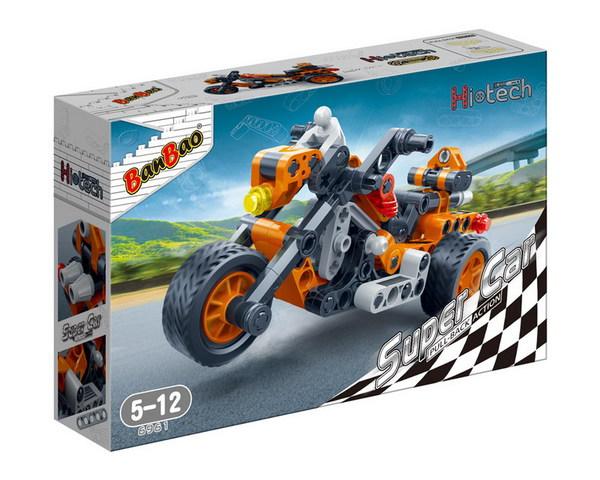 Фото - Конструктор BanBao Мотоцикл 118 дет 6961 / 294107 конструктор совтехстром мотоцикл