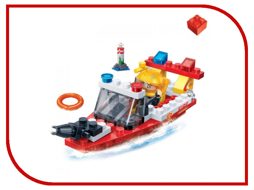 Конструктор BanBao Пожарный катер 62 дет. 7119 / 294222 конструктор banbao пожарный джип 158 элементов 8299