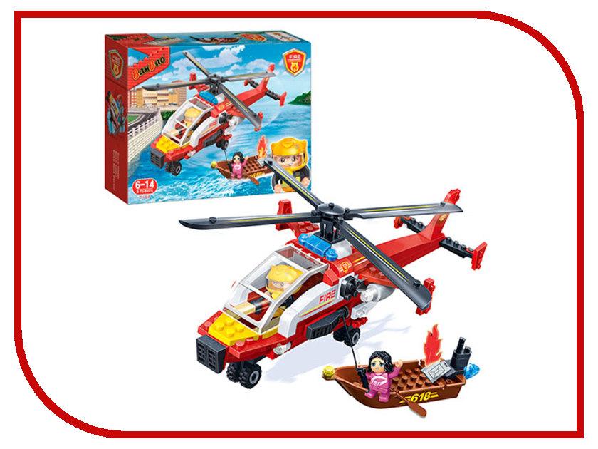 Конструктор BanBao Пожарный вертолет 191 дет. 7107 / 293994 конструктор banbao пожарный джип 158 элементов 8299