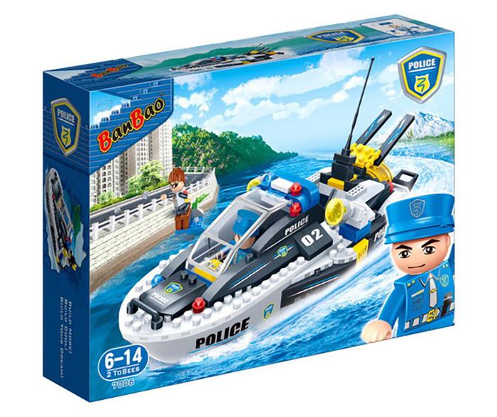 Конструктор Banbao Полицейский катер 225 дет. 7006 / 294004