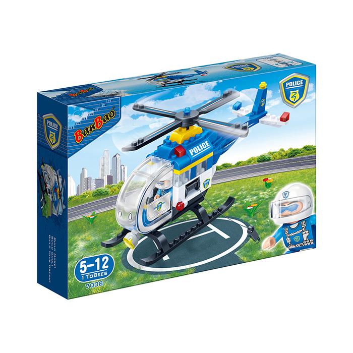 Конструктор Banbao Полицейский вертолет 122 дет. 7008 / 294086