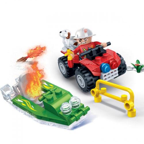 Конструктор Banbao Пожарный джип 62 дет. 7118 / 294093 banbao конструктор джип 37 деталей