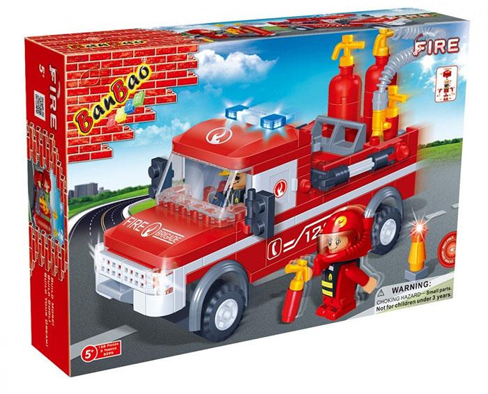 Конструктор Banbao Пожарный джип 158 дет. 8299 / 27624 конструктор banbao цветочный магазин 252 дет 6116