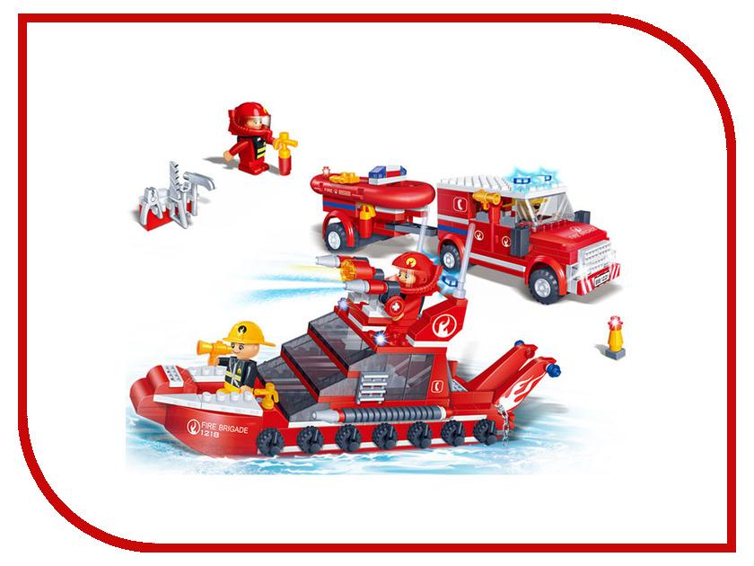 Конструктор Banbao Пожарная команда: катер и джип 392 дет. 8312 / 27627 конструктор banbao пожарный джип 158 элементов 8299