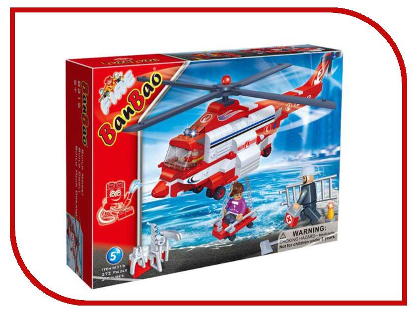 Конструктор Banbao Пожарный вертолет 272 дет. 8315 / 27628 конструктор banbao пожарный джип 158 элементов 8299