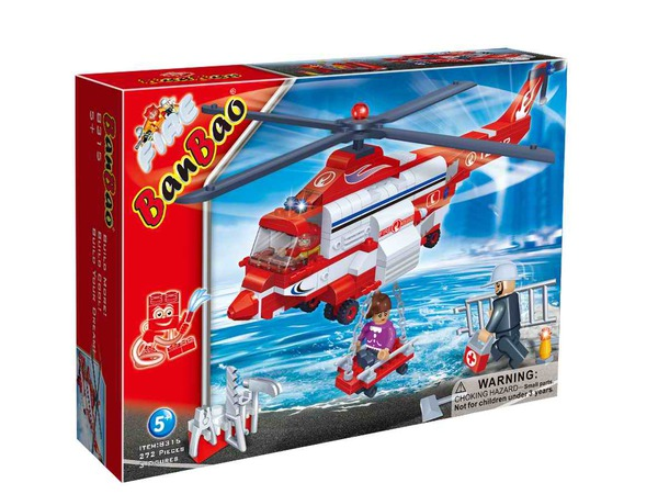 Конструктор Banbao Пожарный вертолет 272 дет. 8315 / 27628