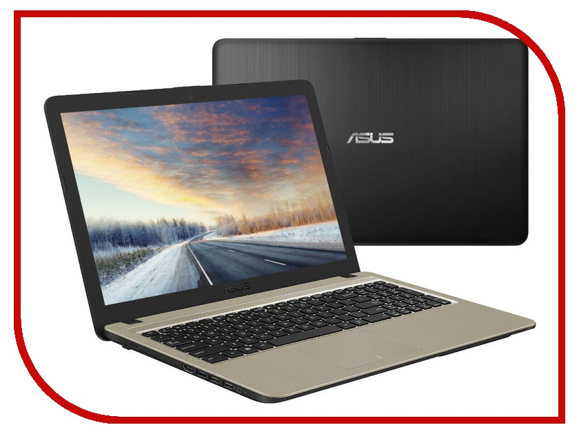 Ноутбук ASUS X540NA-GQ008 90NB0HG1-M00790 (Intel Pentium N4200 1.1 GHz/4096Mb/500Gb/Intel HD Graphics/Wi-Fi/Cam/15.6/1366x768/Endless) ноутбук asus x751nv intel pentium n4200 1100 mhz 17 3