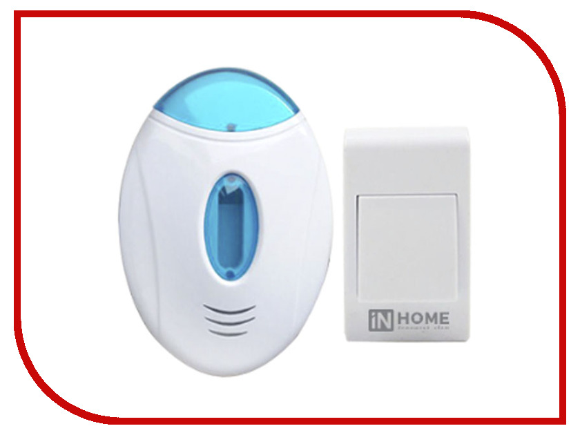 Звонок дверной IN HOME ЗБ-3 White-Light Blue