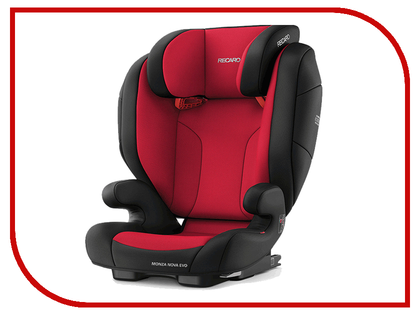 Автокресло группа 1/2/3 (9-36 кг) Recaro Monza Nova Evo Seatfix Racing Red ratchet