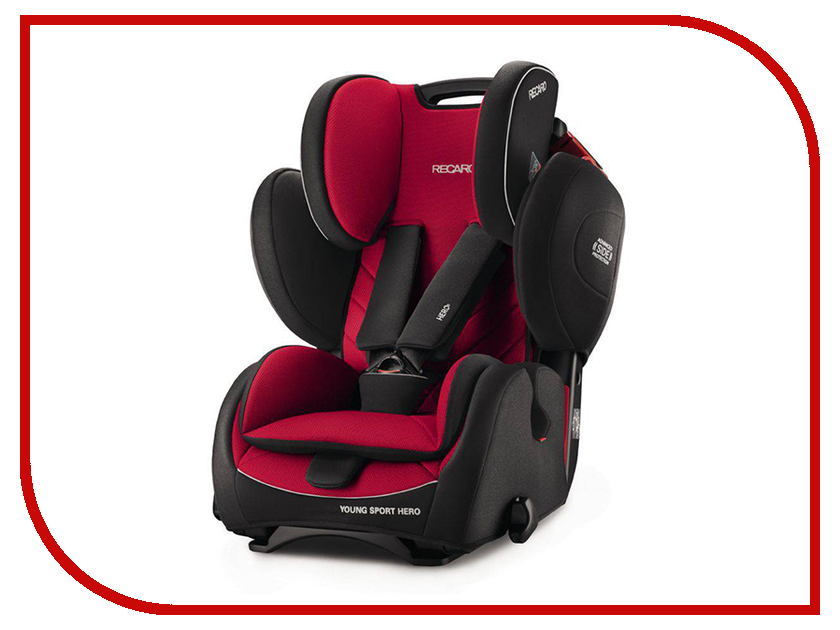 Автокресло Recaro Young Sport HERO Ruby Red 6203.21310.66