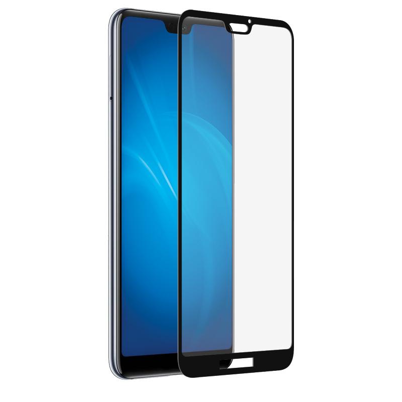 Закаленное стекло DF для Huawei P20 Lite Fullscreen hwColor-40 Black Frame