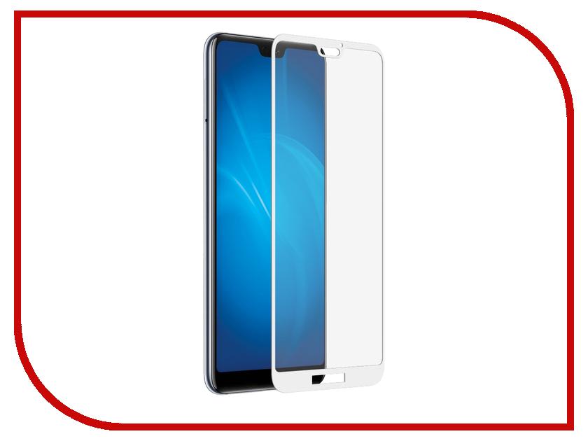 Аксессуар Закаленное стекло для Huawei P20 Lite DF Fullscreen hwColor-40 White Frame от DF-GROUP