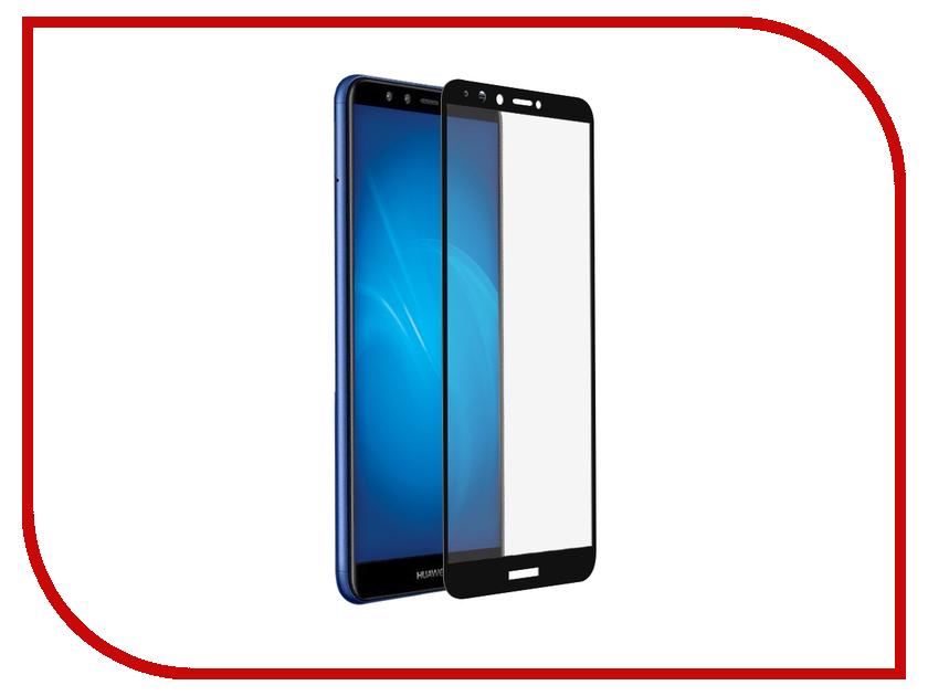Аксессуар Закаленное стекло для Huawei Y9 2018 DF Fullscreen hwColor-42 Black Frame