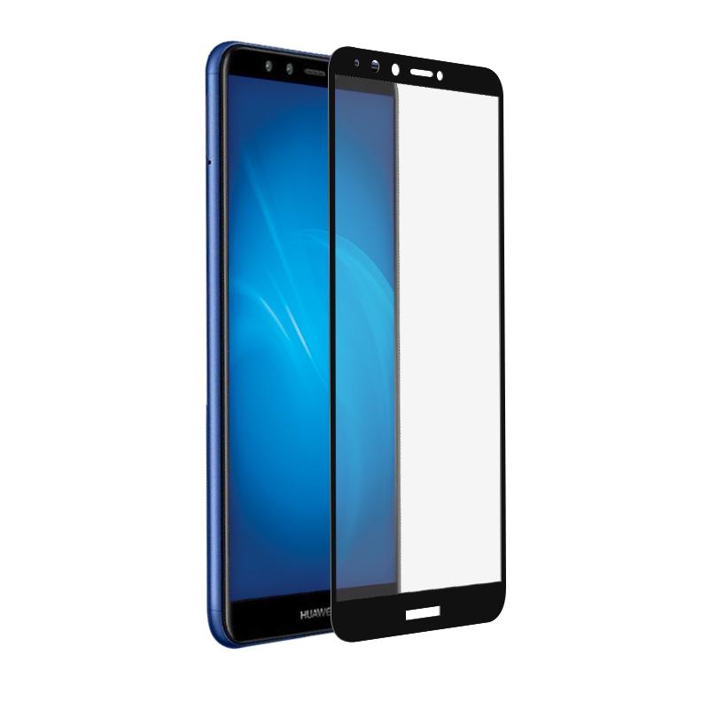 Аксессуар Закаленное стекло DF для Huawei Y9 2018 Fullscreen hwColor-42 Black Frame аксессуар закаленное стекло для huawei mediapad m5 10 8 df hwsteel 42