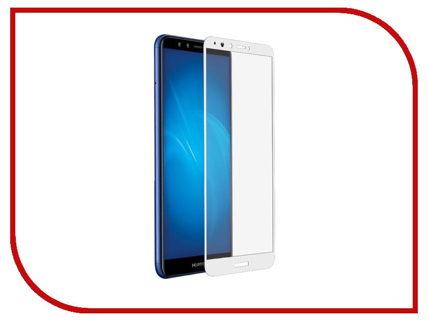 Аксессуар Закаленное стекло для Huawei Y9 2018 DF Fullscreen hwColor-42 White Frame от DF-GROUP