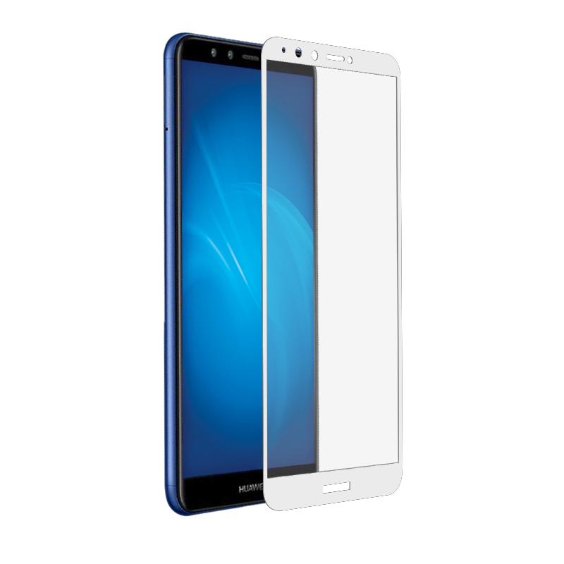 Аксессуар Закаленное стекло DF для Huawei Y9 2018 Fullscreen hwColor-42 White Frame аксессуар закаленное стекло huawei honor 6x df fullscreen hwcolor 06 gold