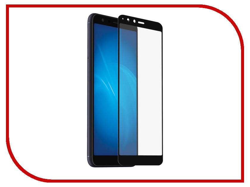Аксессуар Закаленное стекло для ASUS ZenFone Max Plus M1 ZB570TL DF Fullscreen aColor-14 Black Frame g case slim premium чехол для asus zenfone max plus m1 zb570tl black