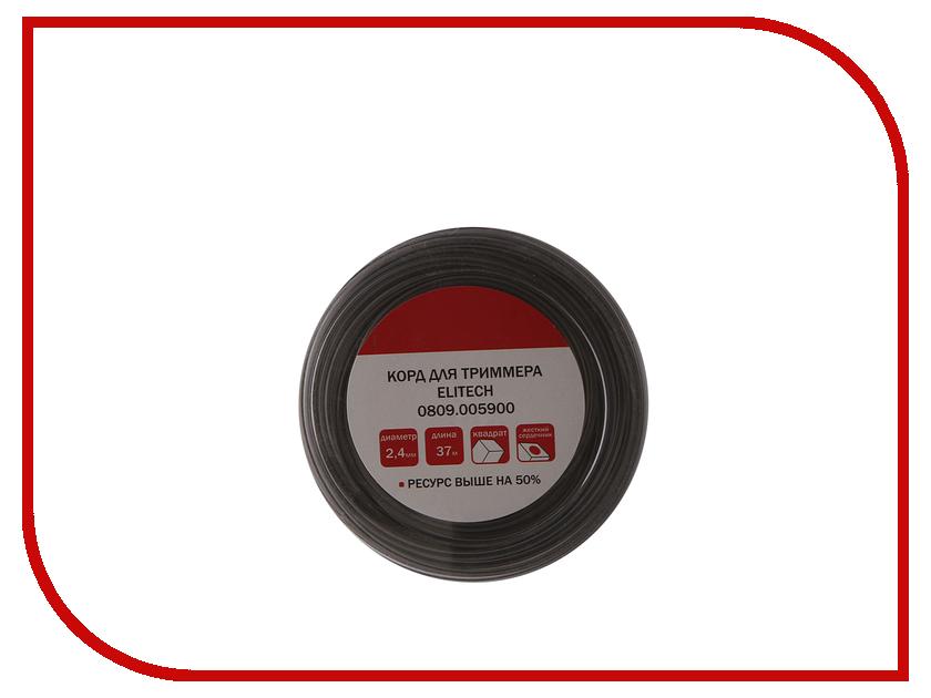 Аксессуар Леска для триммера Elitech 2.4mm x 37m 0809.005900 аксессуар леска для триммера elitech 3mm x 67m 0809 002700