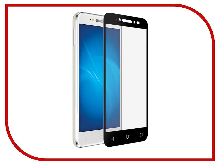 Аксессуар Закаленное стекло Alcatel Shine Lite DF Fullscreen alColor-01 Black Frame