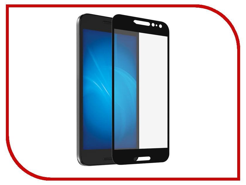 Аксессуар Закаленное стекло Alcatel OT-5046D A3 DF Fullscreen alColor-02 Black Frame