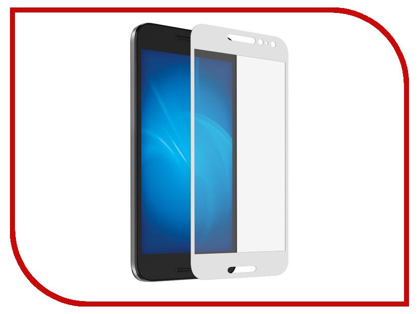 Аксессуар Закаленное стекло Alcatel OT-5046D A3 DF Fullscreen alColor-02 White Frame
