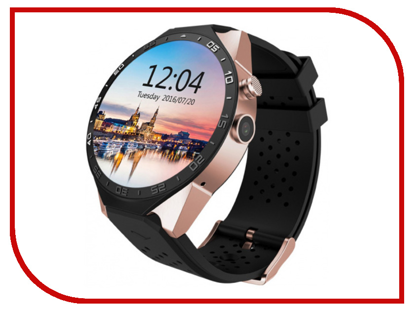 Фото - Умные часы KingWear KW88 Gold jsbp s1 plus heart rate monitor smart watch electronics mtk6580 quad core gps 3g wifi smartwatch pk kingwear kw88 samrt watches
