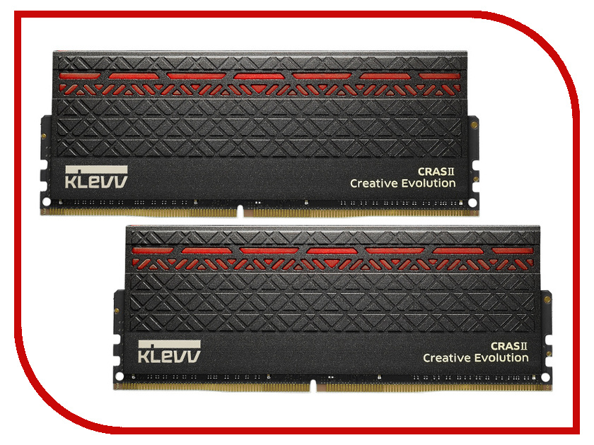 Модуль памяти Klevv DDR4 DIMM 3000MHz PC24000 CL15 - 16Gb KIT (2x8Gb) KM4Z8GX2A-3000-0 модуль памяти klevv ddr4 dimm 3000mhz pc24000 cl15 16gb km4z16x2a 3000 0