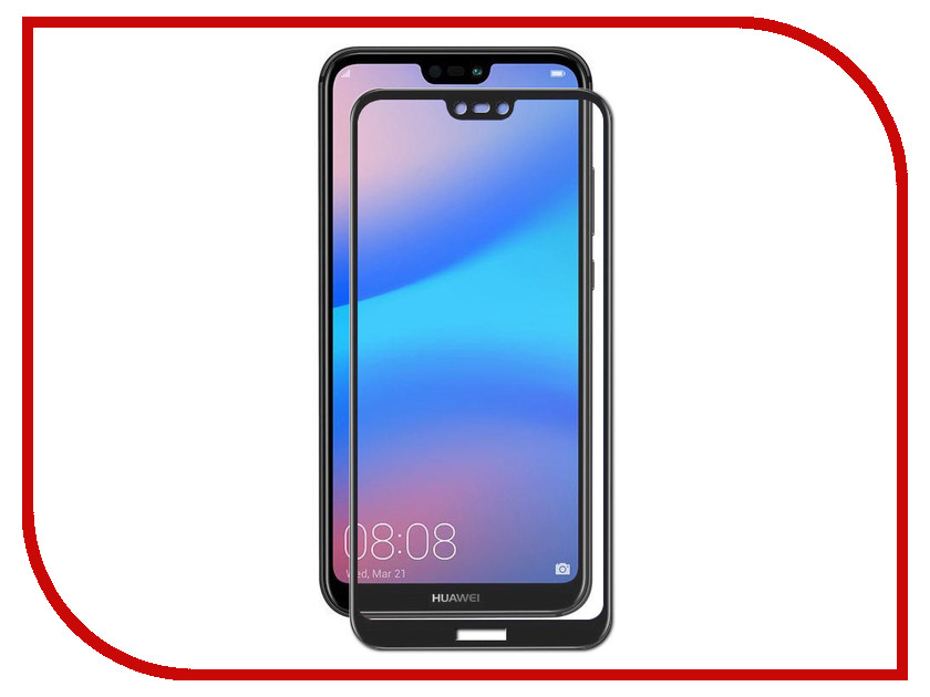 Аксессуар Защитное стекло для Huawei P20 Lite Red Line Full Screen Tempered Glass Black УТ000015079 tempered glass screen protector for vernee apollo lite