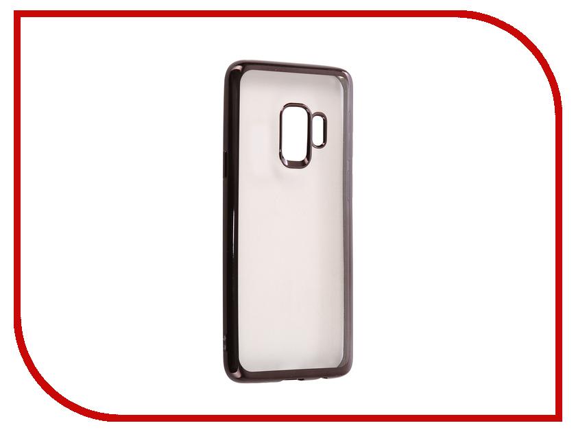 Аксессуар Чехол для Samsung Galaxy S9 iBox Blaze Silicone Black Frame mooncase soft silicone gel side flip pouch hard shell back чехолдля samsung galaxy s6 black