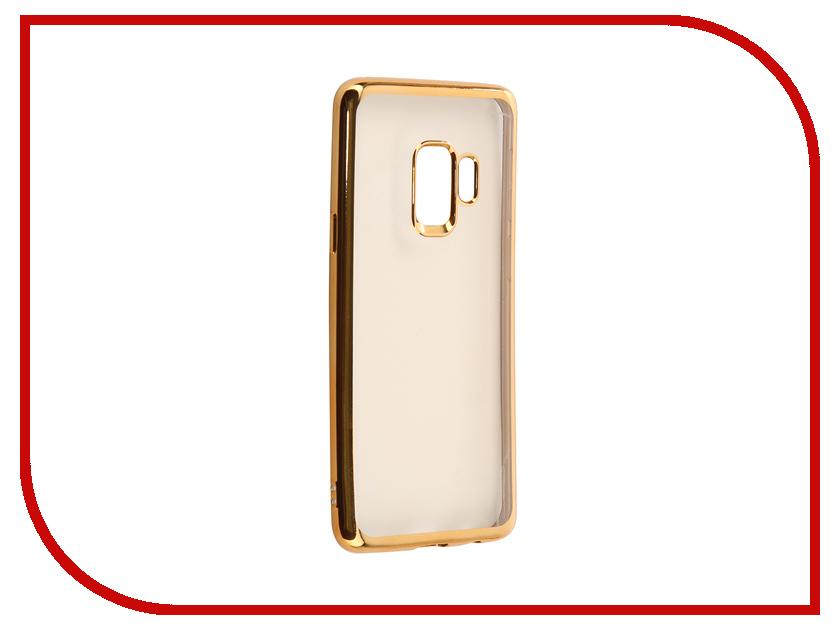 Аксессуар Чехол Samsung Galaxy S9 Plus iBox Blaze Silicone Gold Frame клип кейс ibox fresh для samsung galaxy s5 mini черный