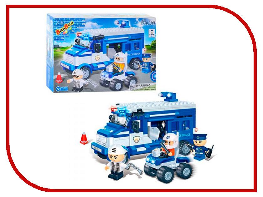 Конструктор Banbao Полиция: машины и вертолет 110 дет. 8128 / 13982 конструктор gudi полиция вертолет 111 дет 9308