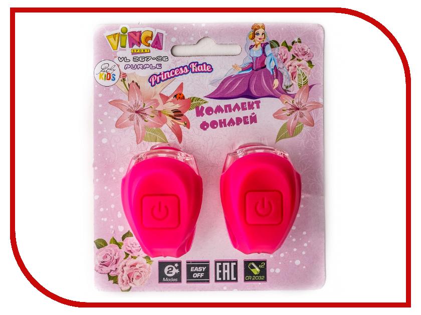 Комплект фонарей Vinca Sport VL 267-2B Kids Pink