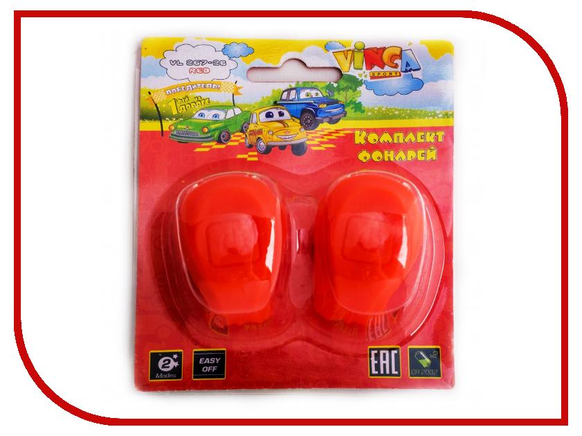 Комплект фонарей Vinca Sport VL 267-2B Kids Red