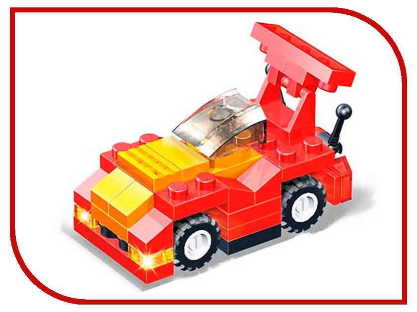 Конструктор Banbao Красный гоночный автомобиль 54 дет. 8116 / 13983 полесье гоночный автомобиль торнадо цвет желтый