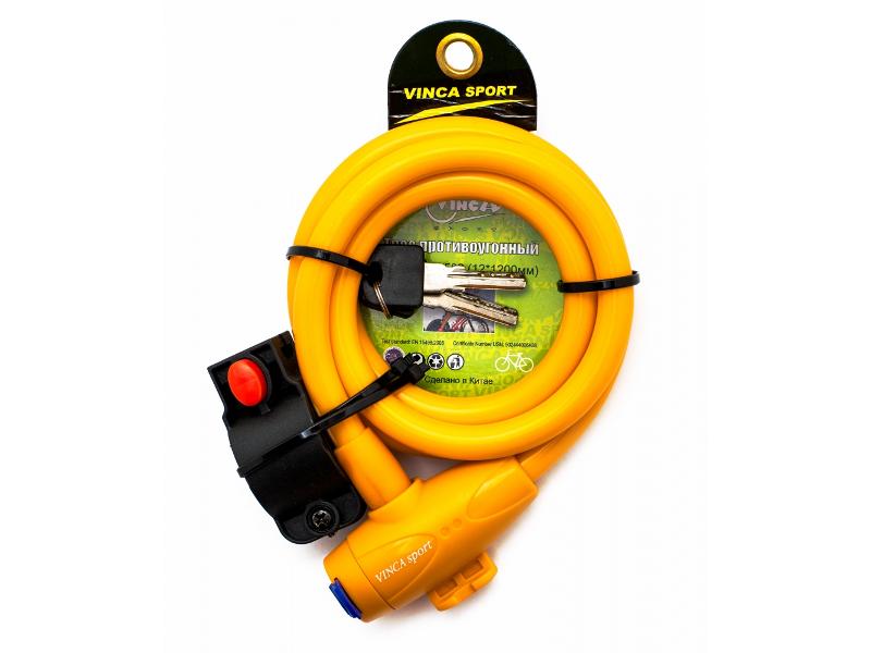 Замок Vinca Sport VS 582 12mm x 120cm Yellow аксессуар vinca sport am 04 для iphone 4 4s 5
