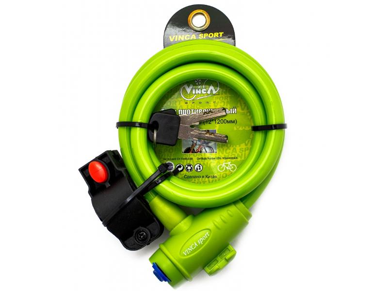 Замок Vinca Sport VS 588 12mm x 120cm Green аксессуар vinca sport am 04 для iphone 4 4s 5