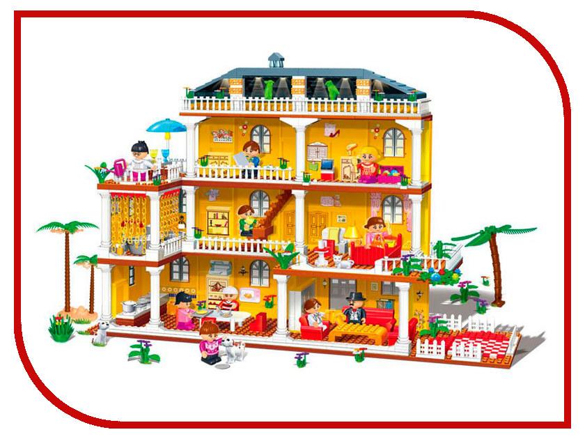 Конструктор BanBao Кукольный домик 8370 Семейная вилла деревянный конструктор кукольный домик