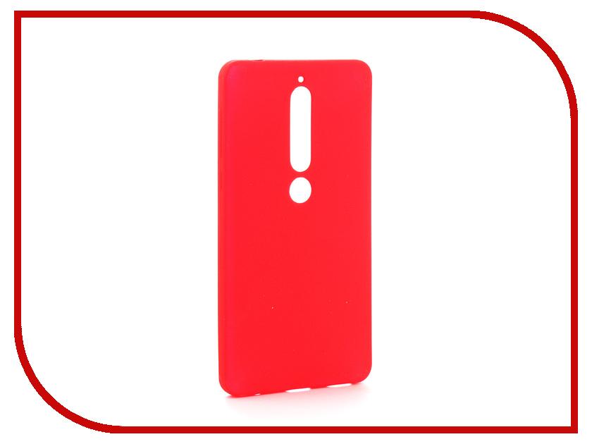Аксессуар Чехол для Nokia 6 2018 Zibelino Soft Matte Red ZSM-NOK-6-2018-RED
