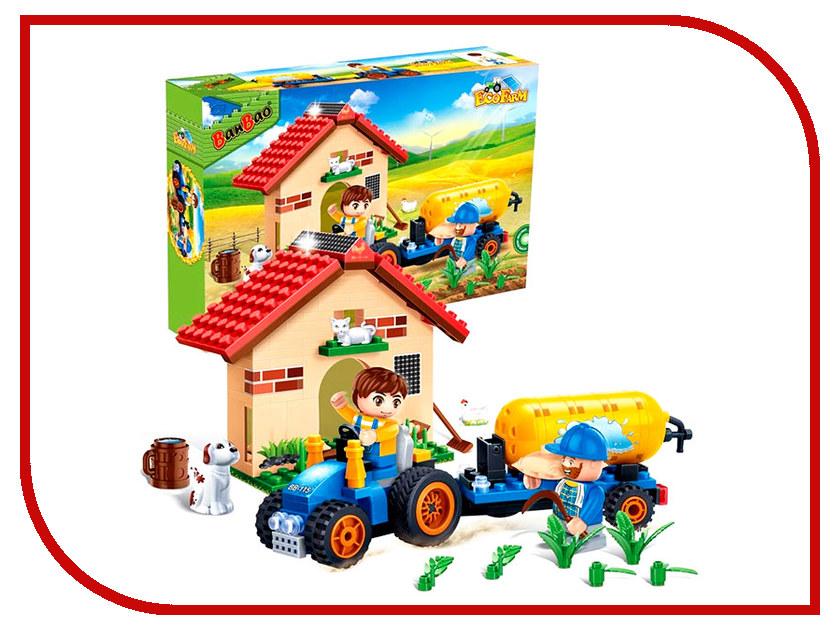 Конструктор Banbao EcoFarm Фермерский домик 185 дет. 8582 / 202676 банбао игрушка пластм конструктор космический летательный аппарат 237 дет banbao