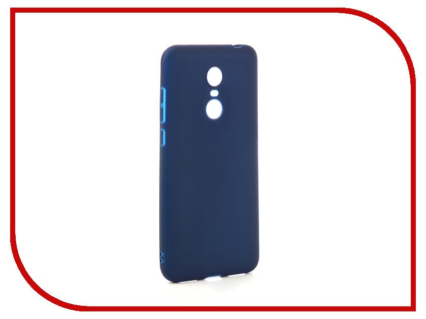 Аксессуар Чехол для Xiaomi Redmi 5 Plus Zibelino Soft Matte Dark Blue ZSM-XIA-5PL-DBLU аксессуар чехол для xiaomi redmi 5 plus zibelino book black zb xia rdm 5pl blk