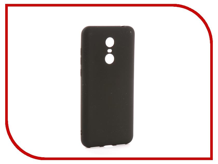 Аксессуар Чехол Xiaomi Redmi 5 Plus Zibelino Soft Matte Black ZSM-XIA-5PL-BLK аксессуар чехол xiaomi redmi note 4 zibelino classico black zcl xia not4 blk