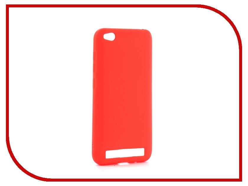 Аксессуар Чехол Xiaomi Redmi 5A Zibelino Soft Matte Red ZSM-XIA-5A-RED аксессуар чехол xiaomi redmi note 4 zibelino classico red zcl xia not4 red