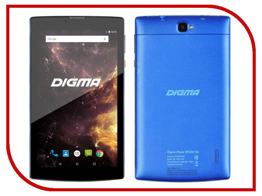 Планшет Digma Plane 7012M 3G Black-Blue