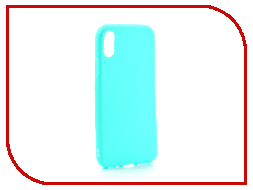 Аксессуар Чехол Zibelino Soft Matte для APPLE iPhone X Turquoise ZSM-APL-X-TQS protective matte frosted back case for htc one x s720e black