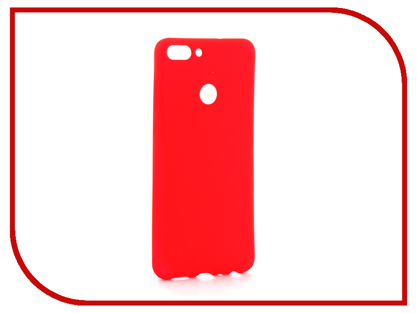 Аксессуар Чехол Huawei P Smart Zibelino Soft Matte Red ZSM-HUA-PSM-RED
