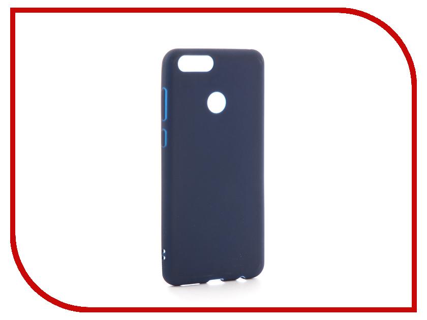 Аксессуар Чехол Huawei Honor 7X Zibelino Soft Matte Dark Blue ZSM-HUA-7X-DBL аксессуар чехол huawei nova zibelino classico black zcl hua nov blk