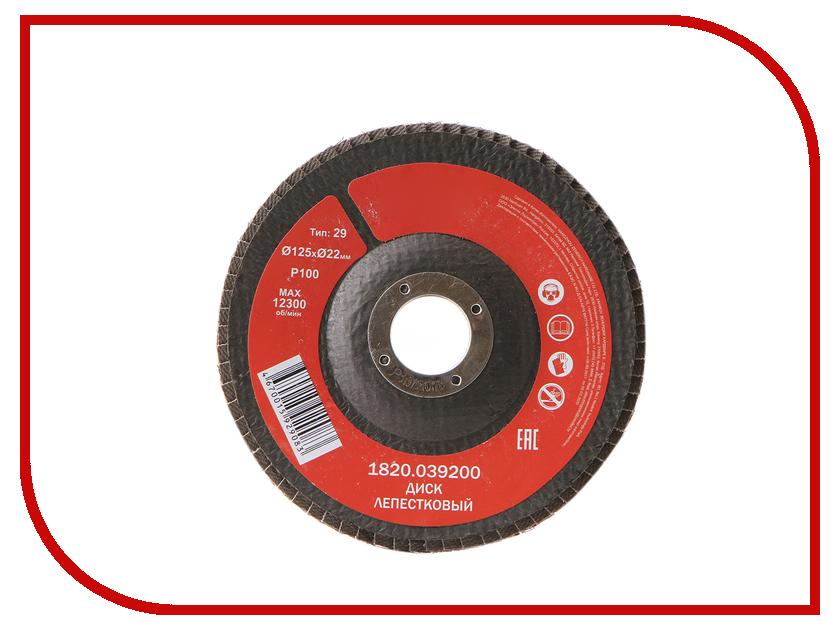 Диск Elitech 1820.039200 лепестковый 125x22mm P100